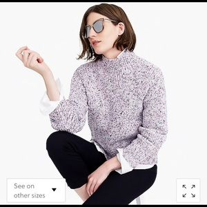 J crew collection marled knit turtleneck sweater
